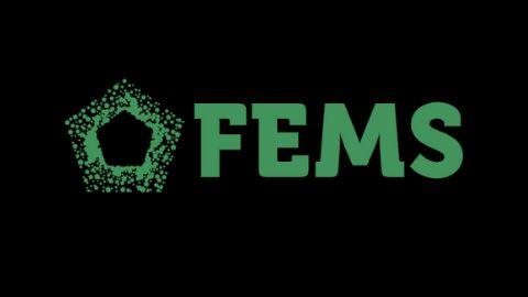 FEMS green logo on black background