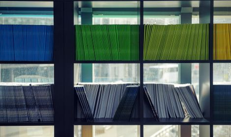 journals on a shelf